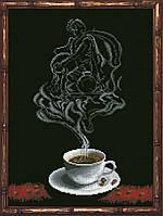 Наборы для вышивания нитками на канве Кофейная Фантазия - Водолей 1 КИТ 90413