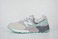 c08d29b7ef03 Женские кроссовки в стиле New Balance 999, серые с бирюзой