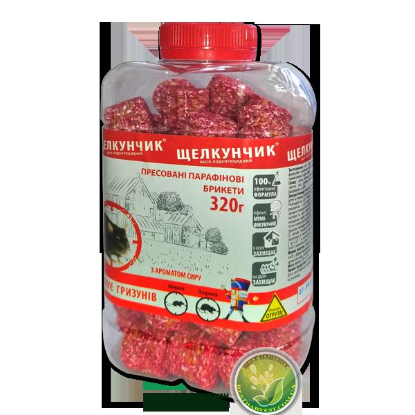 «Щелкунчик» брикеты красные 320 г банка, от крыс и мышей, оригинал