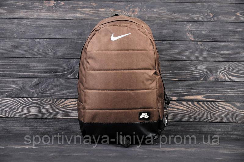Спортивный рюкзак  Nike реплика коричневый