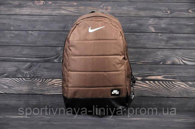 Спортивный рюкзак  Nike реплика коричневый, фото 2