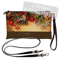 Клатч mini Україна Принт Шишки і ялинки, фото 1