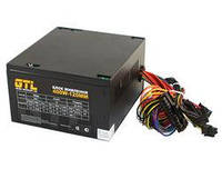 Блок питания GTL 400W, 120mm, 20+4pin, 1x4pin, SATA х 2, Molex 2x4pin, кабеля немодульные