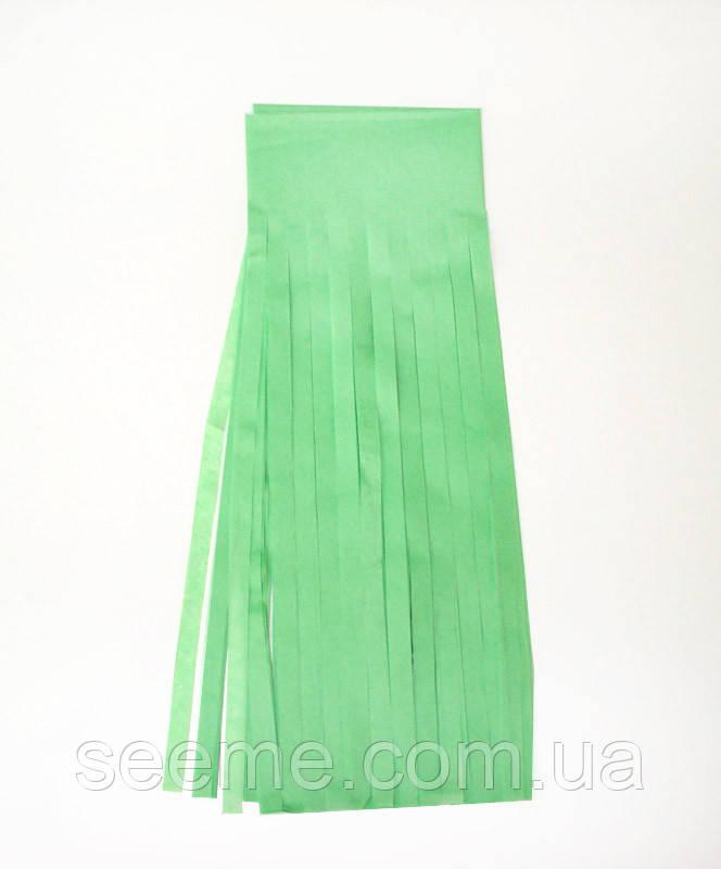 Паперова гірлянда-пензлик із тишею «Apple Green», набір з 5 шт.
