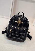 Рюкзак женский с декором черный