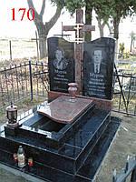 Двойной памятник из гранита, лабрадорита и базальта