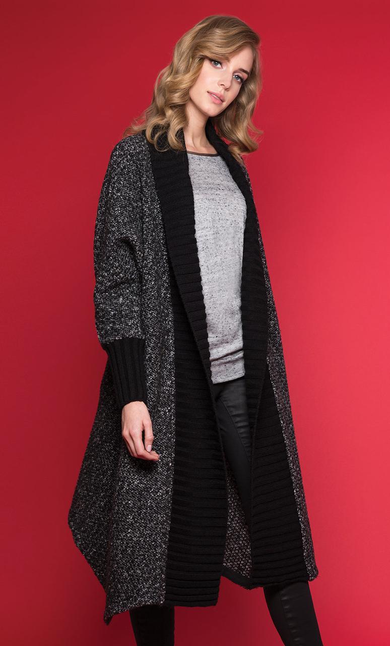 948a76364e7 Стильное женское пальто цвета графит. Модель Orika Zaps. Коллекция осень-зима  2018-