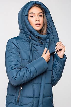Теплая женская зимняя куртка VS MT-188 синяя (SIN55 - мурена), фото 2