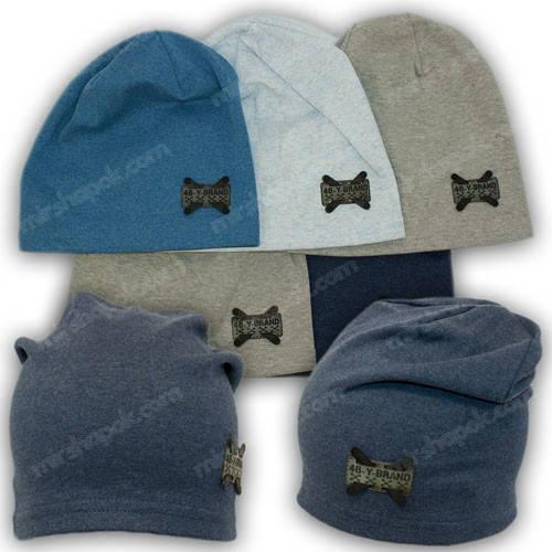 Трикотажная шапка для мальчика, р. 46-48, 50-52