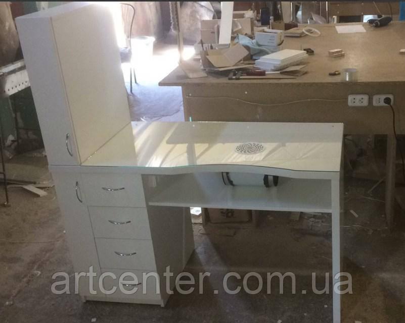 Стол для маникюра, маникюрный стол с ящиком карго