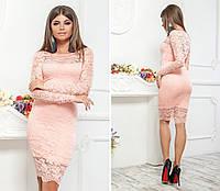 Гипюровое платье на подкладе