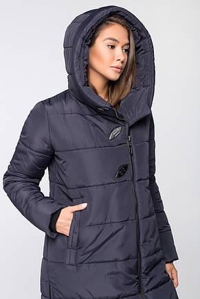 Теплая женская зимняя куртка VS MT-191 темно-синяя (SIN16), фото 2