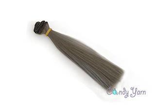 Волосы для кукол прямые-трес 15см*100см, Серый