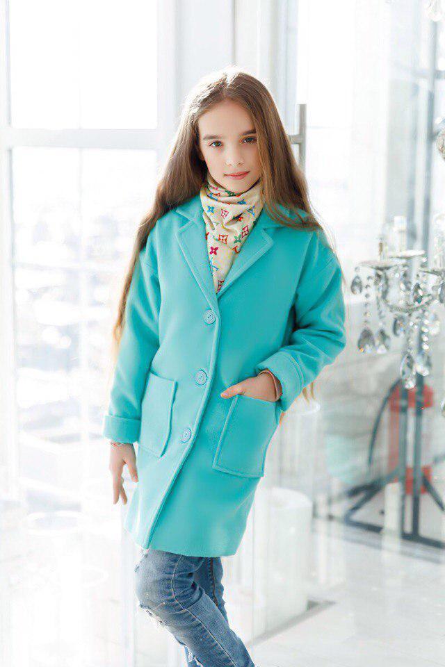 Пальто LiLove 260-3 146 ментоловый