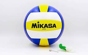 Мяч волейбольный Клееный PU MIKASA MV-2200 (PU, №5, 5 сл., клееный)