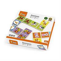 """Настольная игра Viga Toys Домино """"Ферма"""" (51306), детская настольная игра, игра домино для малыша"""