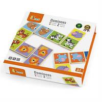 """Настольная игра Viga Toys Домино """"Сафари"""" (51307),  детская настольная игра, игра домино для малыша"""
