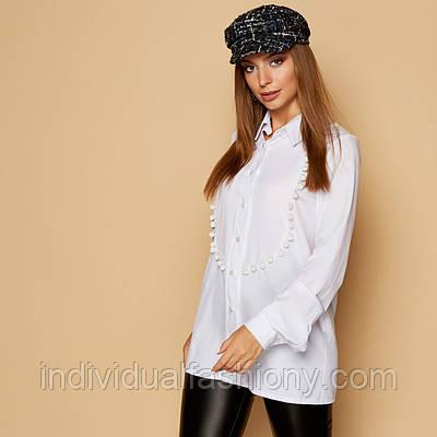 Блуза из софта с бусинами