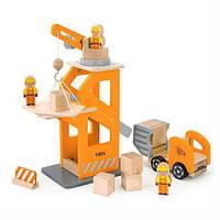 """Игровой набор Viga Toys """"Строительная площадка"""" (51616), деревянная строительная площадка"""