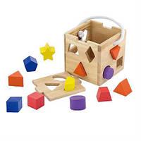 """Сортер Viga Toys """"Кубик"""" (53659), детский сортер, деревянный сортер"""
