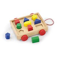 """Сортер Viga Toys """"Тележка с блоками"""" (58583), развивающие игрушки"""