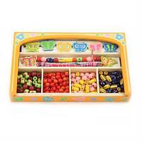 """Набор для творчества Viga Toys """"Бабочки"""" (58550), набор бусинок, игрушки для девочки"""