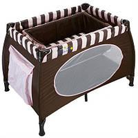 Манеж WonderKids Honeybee (шоколадный) WK23-H52-001, удобный манеж кровать
