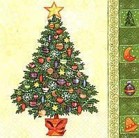 Салфетка декупажная Новогоднее дерево 4010 (пачка 10)