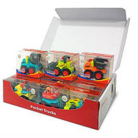 """Игрушка Huile Toys """"Рабочая машинка"""" (3116B), набор строительных машинок 12 шт."""