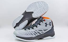 Обувь для баскетбола мужская Under Armour F1708-4 (41-45) (PU, серый-белый)
