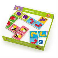 """Настольная игра Viga Toys Домино """"Насекомые"""" (50127VG),  детская настольная игра, игра домино для"""