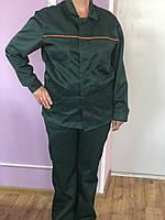 Костюм рабочий мужской. Спец одежда. Рабочая Одежда. Брюки и Куртка. Цвет зелёный. Размер 48-50