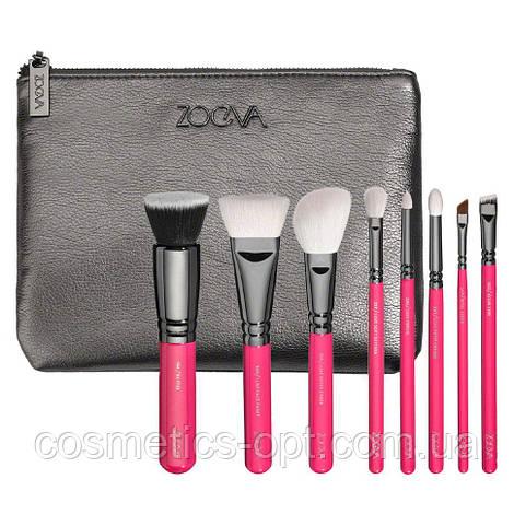 Кисти для макияжа ZOEVA Pink Elements Classic Set (8 предметов) (реплика)