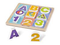 Первый деревянный формовый пазл Буквы, цифры Melissa & Doug (MD1899), фото 1