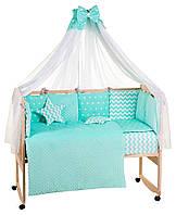 Детская постель Babyroom Bortiki lux-09 плюш бирюзовый
