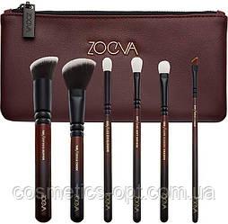 Кисти для макияжа Zoeva Classic Queens Guard Brush Set X6 Марсала (реплика)