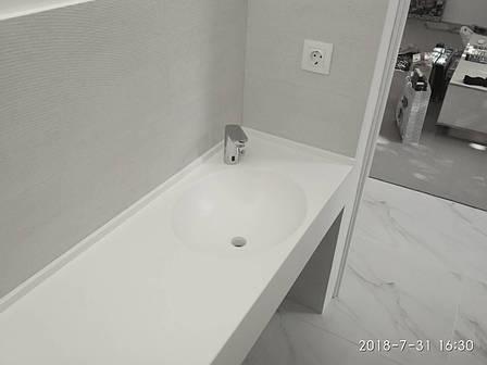 Столешница в ванную с мойками из акрила LG S034, фото 2