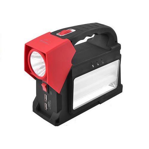 Фонарик аккумулятор солнечная батарея LED лампочки PowerBank GREELITE YJ1960T, Фонарь переносная лампа