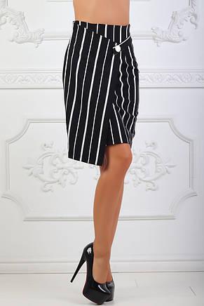 Юбка черная с белой полоской, фото 2