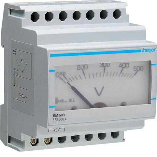 Вольтметр аналоговый SM500 Hager