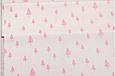 Сатин (хлопковая ткань)  розовая елка, фото 2