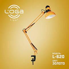 Лампа настольная со струбциной Loga Light L-620 Золото