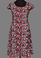 462ab33734b78 Длинный халат домашний женский на пуговицах больших размеров (100% хлопок)  короткий рукав Украина 52
