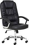 Комп'ютерне крісло Бонус Richman чорне хром 106-113х53х50 см з м'якими підлокітниками, фото 3
