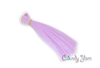 Волосы для кукол прямые-трес 15см*100см, Лиловый