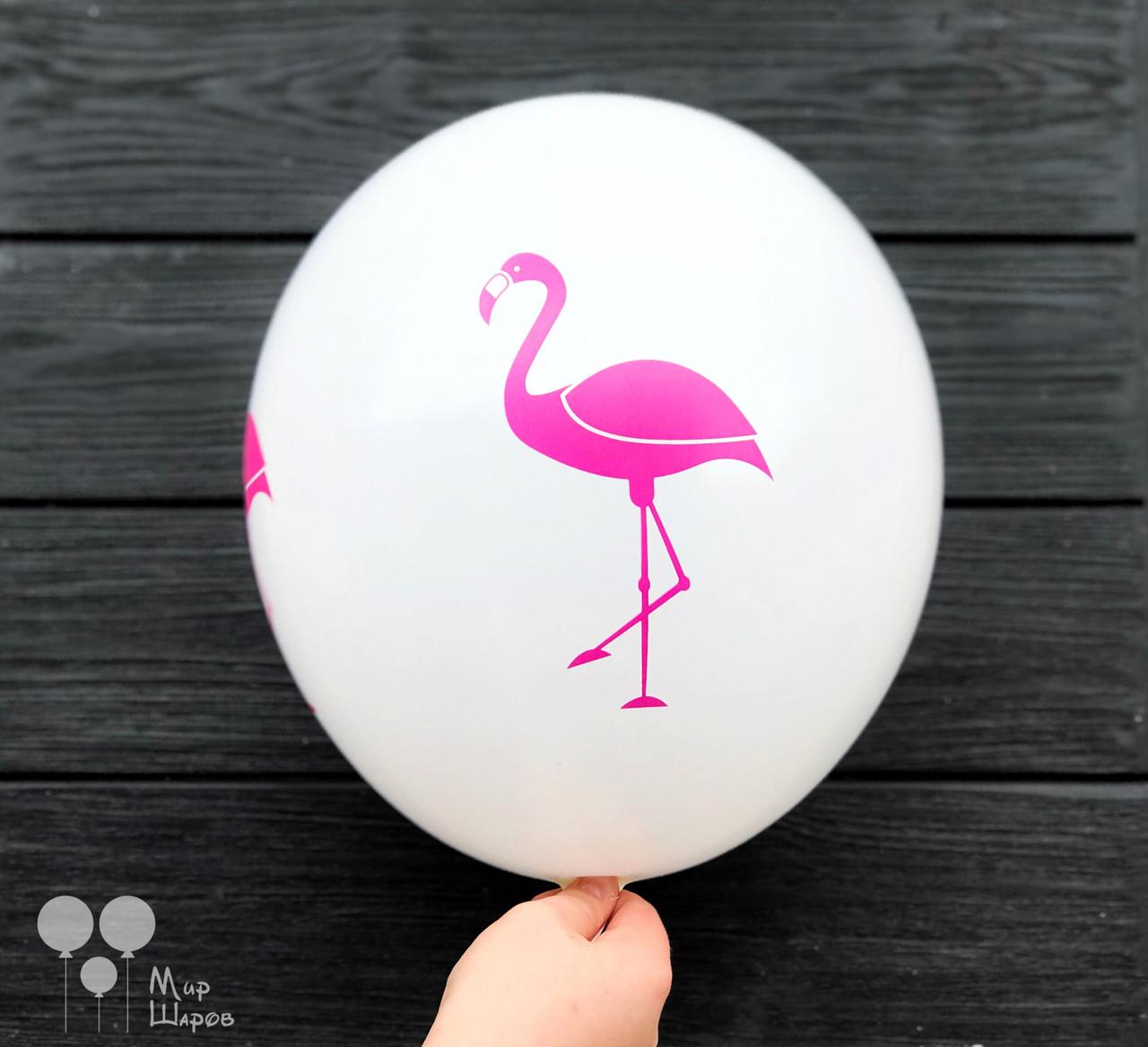 Шары с принтом фламинго