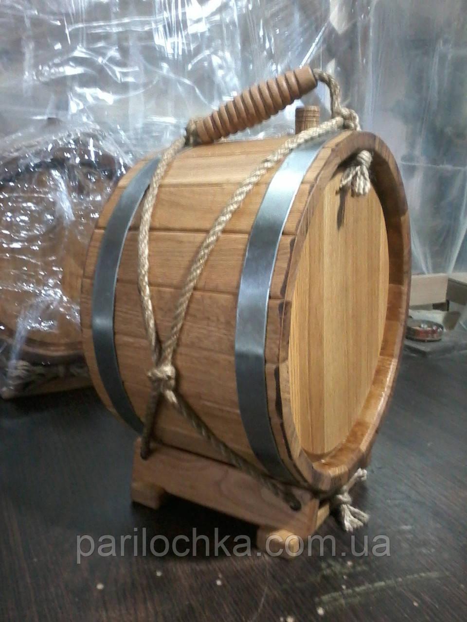 Деревянная баклага для вина
