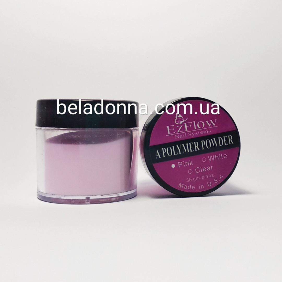 Акриловая пудра EzFlow 30 гр розовая прозрачная