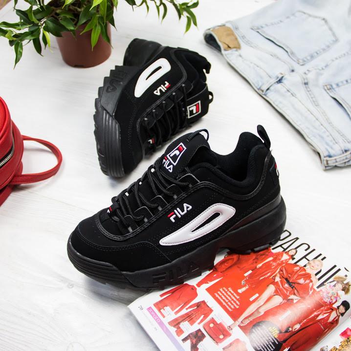 Женские кроссовки в стиле FILA Disruptor Black (36, 38, 39, 40, 41 размеры)