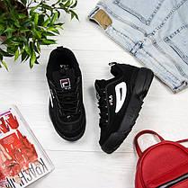 Женские кроссовки в стиле FILA Disruptor Black (36, 38, 39, 40, 41 размеры), фото 2
